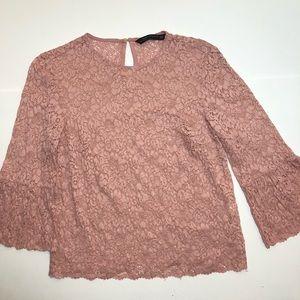 Zara floral lace top